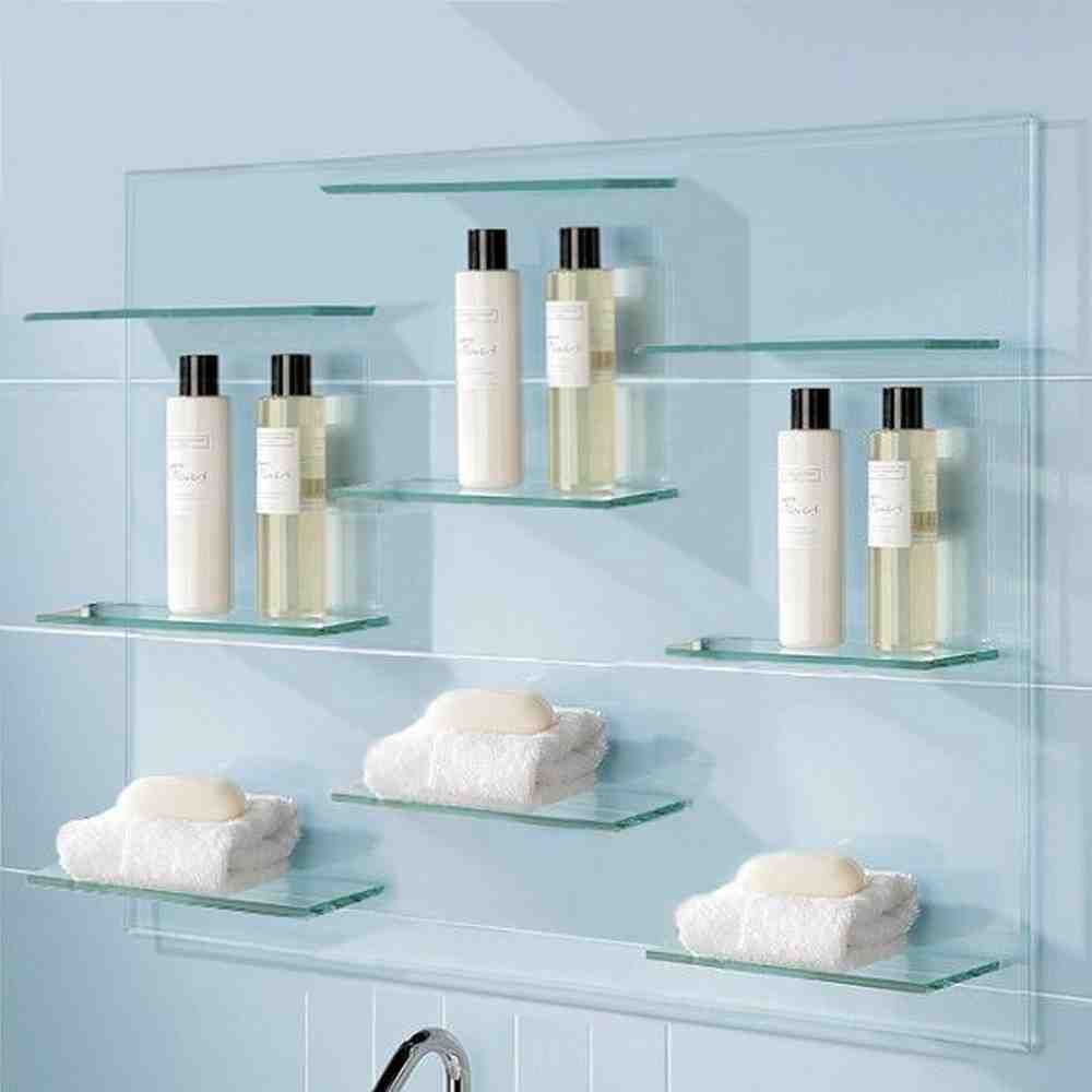 Glass Bathroom Shelving | glass shelves | Pinterest | Glass bathroom ...