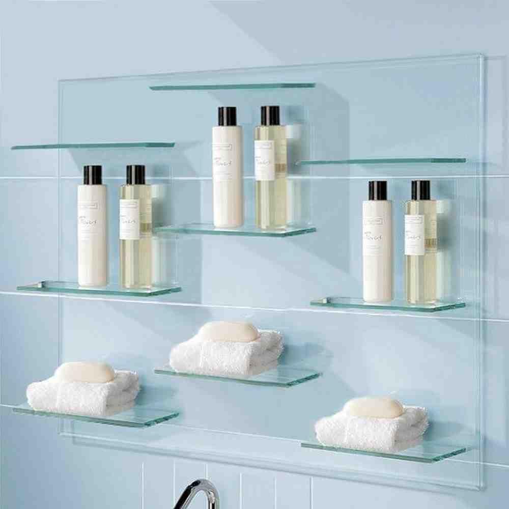 Glass Bathroom Shelving Glass Shelves In Bathroom Glass