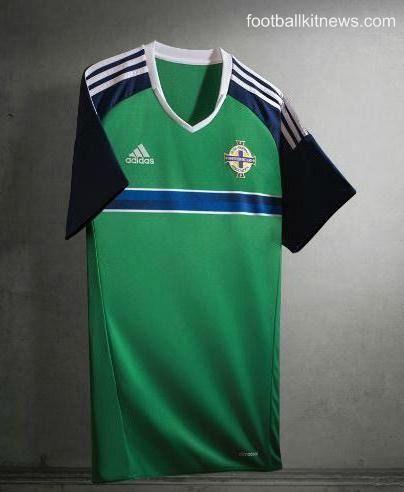 6d4c3696800 Adidas Northern Ireland Euro 2016 Top- New NI Home Kit 2016-17 ...