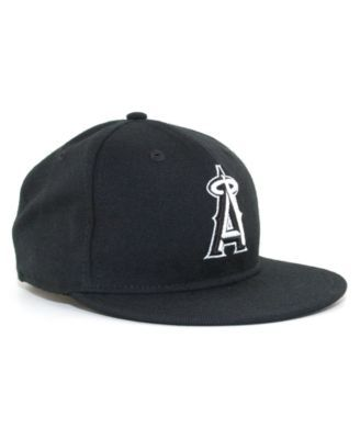 pretty nice 492c2 5a58e New Era Kids  Los Angeles Angels of Anaheim Mlb Black and White Fashion  59FIFTY Cap