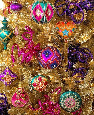 Holiday Lane Christmas Ornaments, Bohemian Tree Theme - Christmas