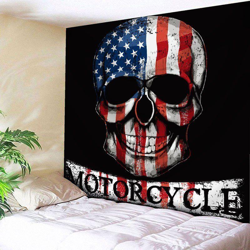 usa flag skull print wall art tapestry american flag on walls coveralls website id=54732