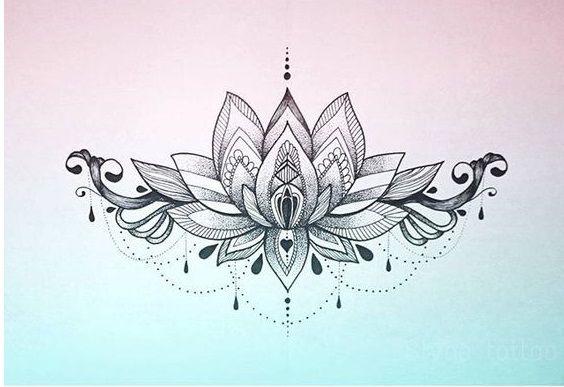 Flor De Lotus Mais De 70 Modelos De Desenhos Tatuagens Ideias Tattoos Lotus Flower Mandala Cover Tattoo