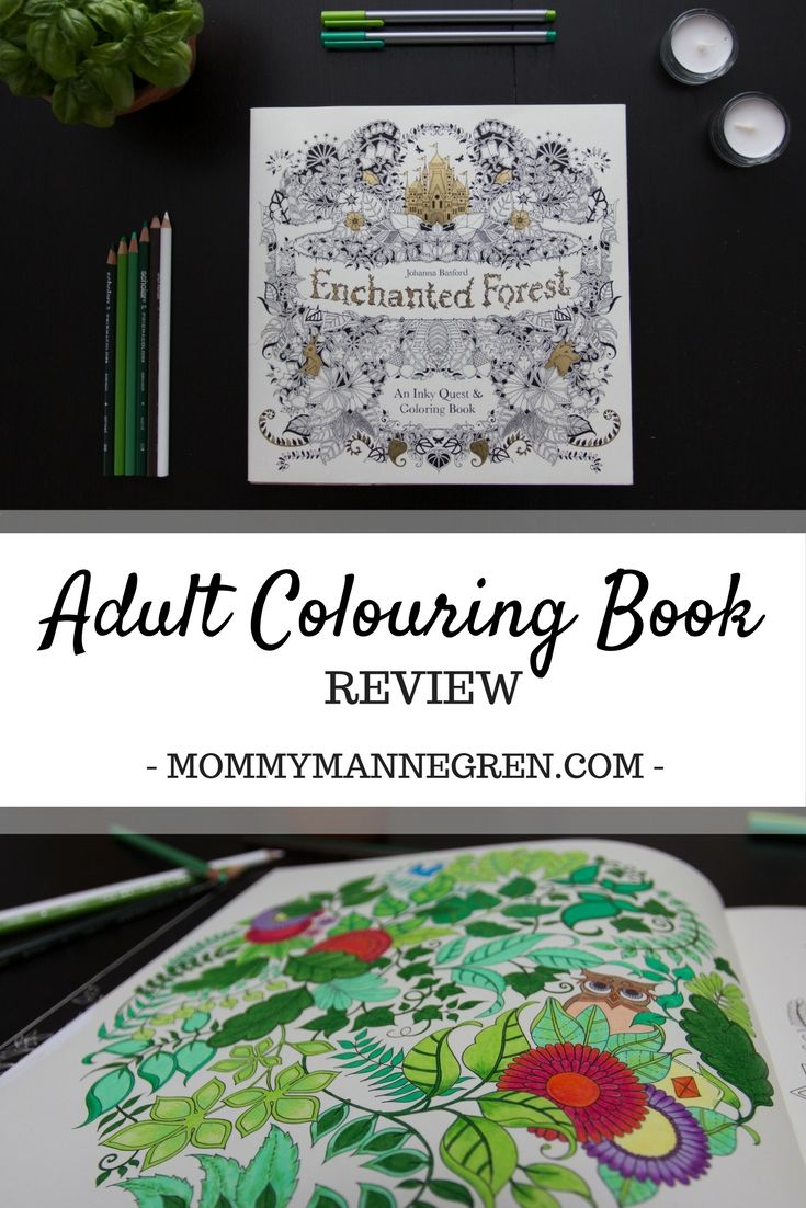 Enchanted Forest Adult Colouring Book Review