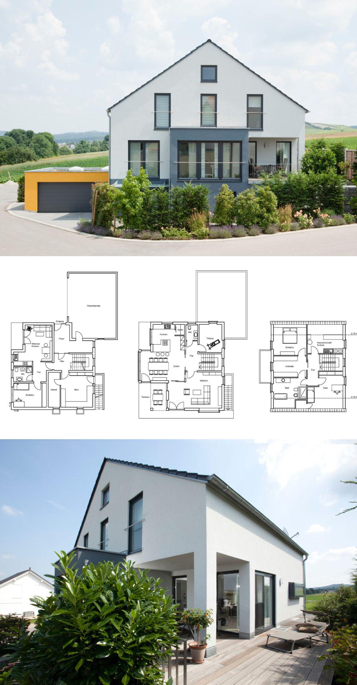 einfamilienhaus mit garage einliegerwohnung in hanglage. Black Bedroom Furniture Sets. Home Design Ideas