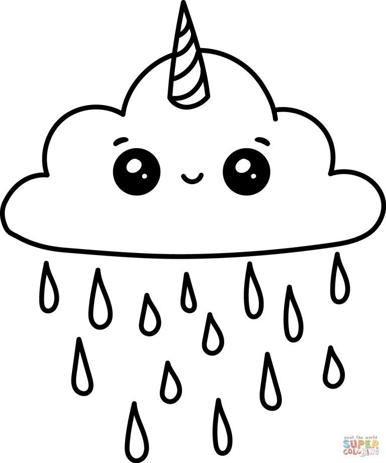 Cloud Coloring Page Cute Clouds Coloring Page Royalty Free Vector Image Entitlementtrap Com Cute Turtle Drawings Cute Easy Drawings Cute Coloring Pages