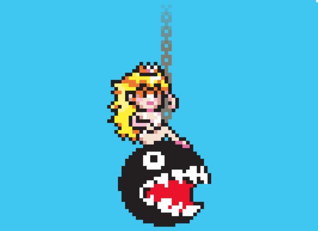 Princess Peach Swings In Like A Wrecking Ball Pixel Art Perler Bead Art Nerdy Perler Beads