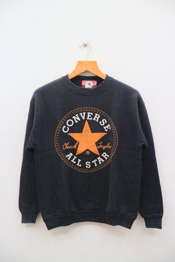46db57c91e96d Vintage CONVERSE All Star Chuck Taylor Big Spell Big Logo ...