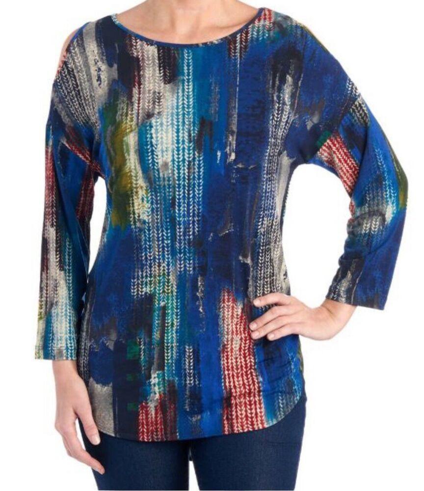 DEMO SHOW Donna Maglie a Manica Lunga Sciolto V Collo Bottone Camicia di Henley Floreale Pieghettata Bluse Tunica Tops T Shirt