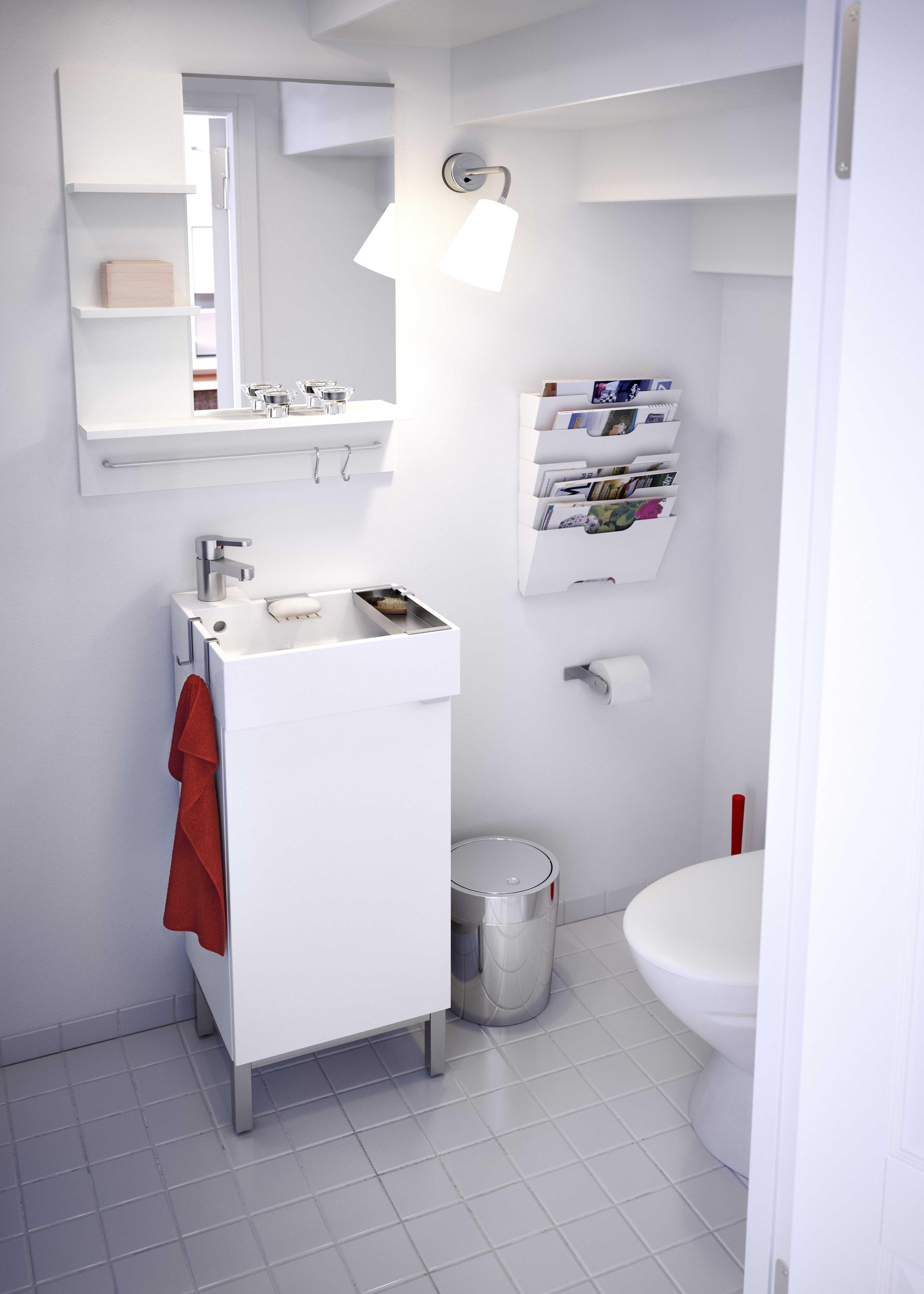 Kast Boven Toilet Ikea.Lillangen Wastafel Met Onderkast 1 Deur Wit Ensen Kraan