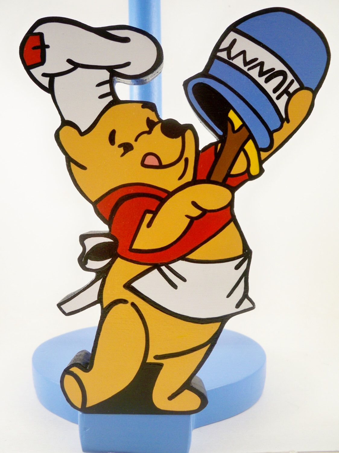 Winnie The Pooh Chef With Hunny Pot Wood Kitchen Countertop Paper