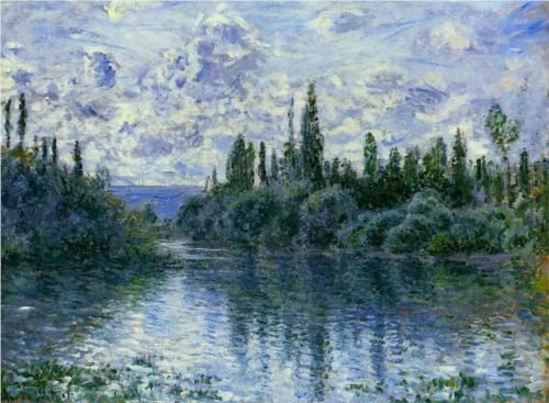 Arm of the Seine near Vetheuil - Claude Monet