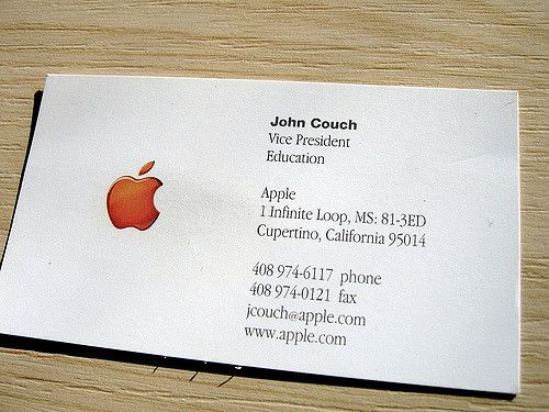 Apple business card md pinterest apple business card flashek Choice Image