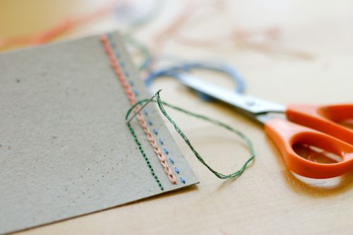 Personal touch on plain greeting cards without cutting gluing diy project hand embroidered note cards m4hsunfo