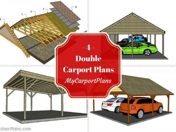 4 Free Double Carport Plans  Wooden Carport Plans