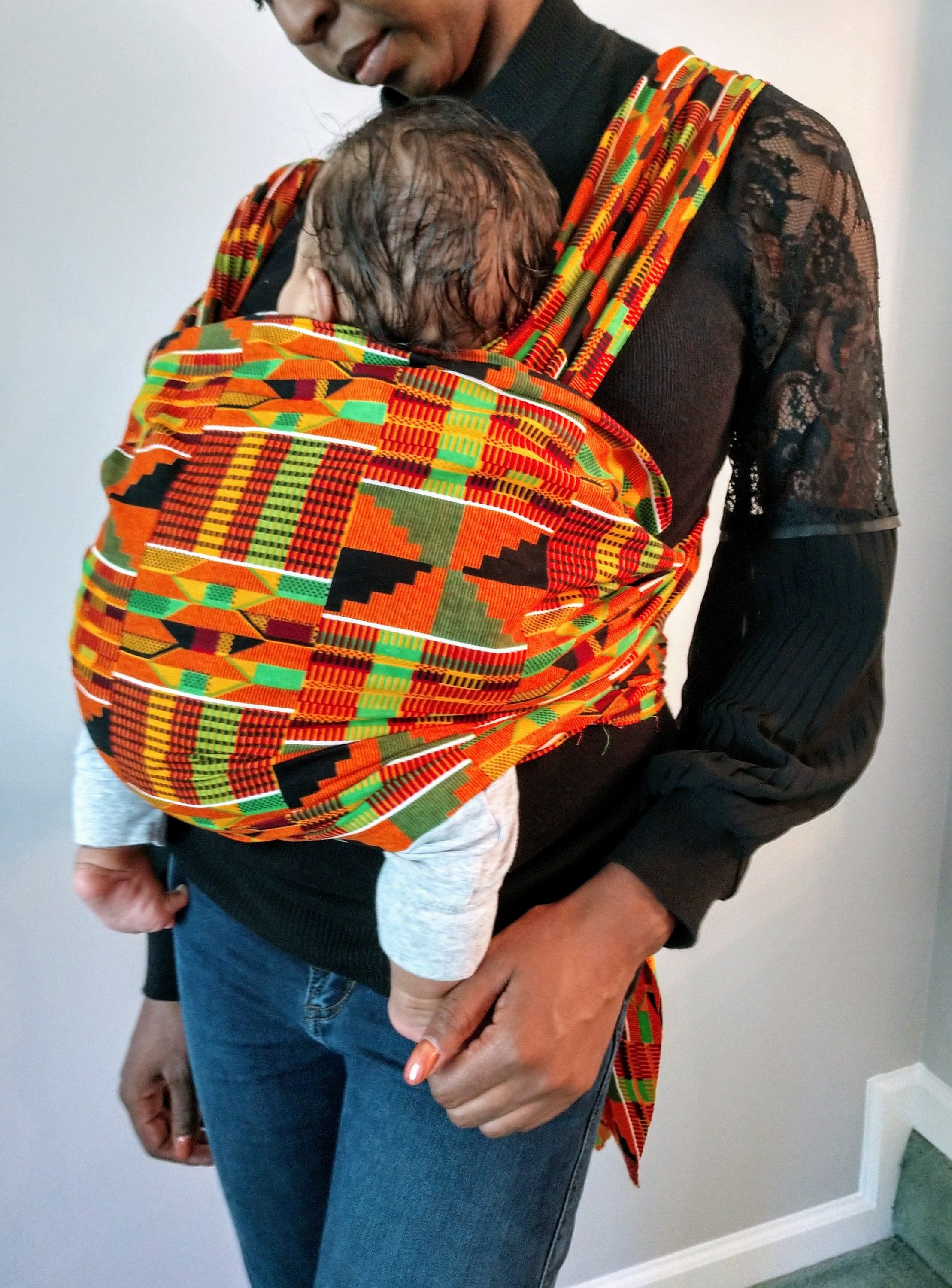 Handmade African Pattern Baby Wrap Carrier Unique Stylish Design Cotton Sling