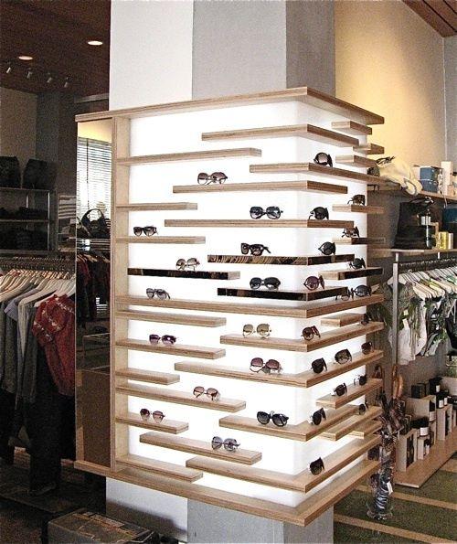 Lit Shelves Corner Eyewear Store Design Retail Display Retail Store Design