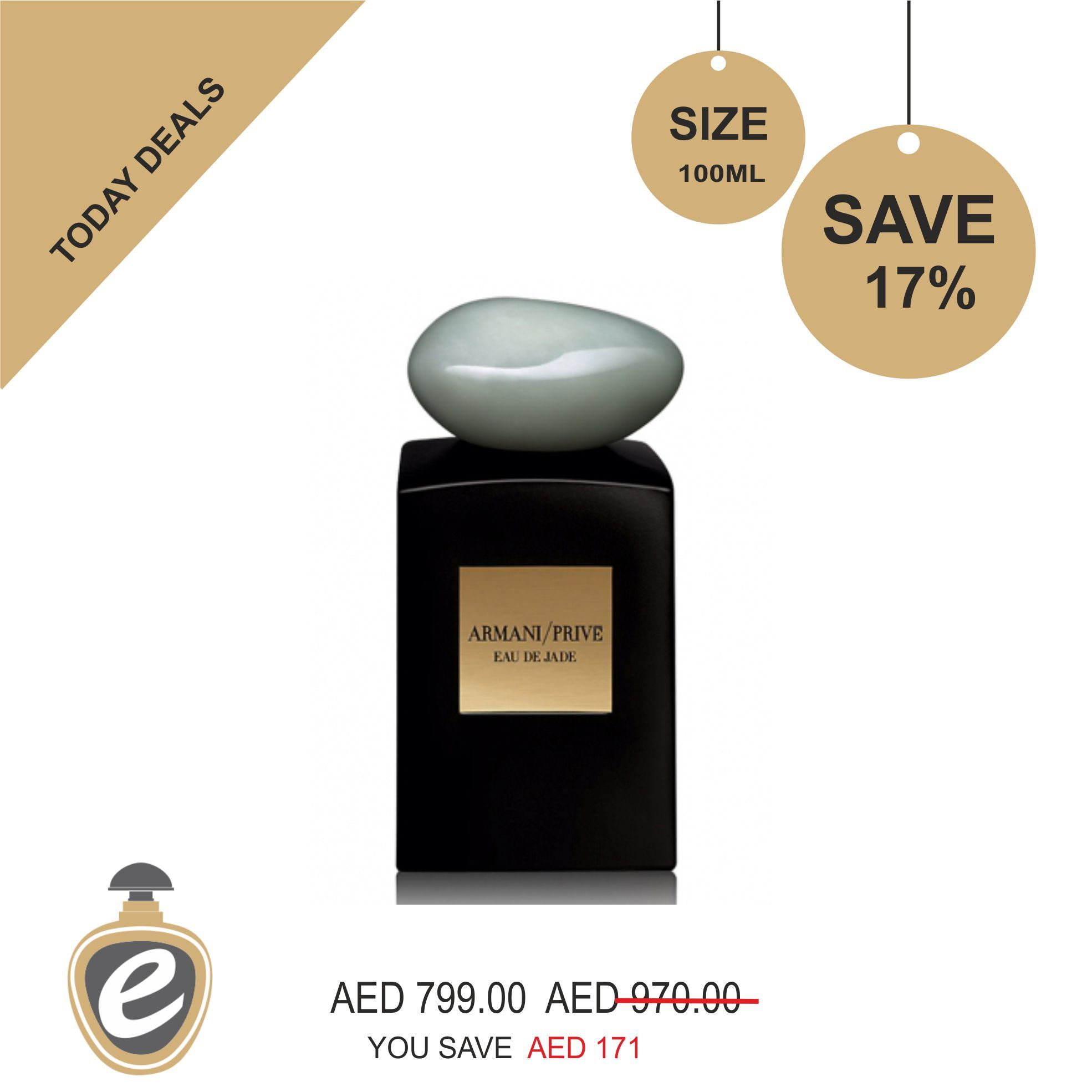 Armani Prive Cologne Spray Eau de Jade Giorgio Armani Eau De Parfum For Women And Men 100 ml