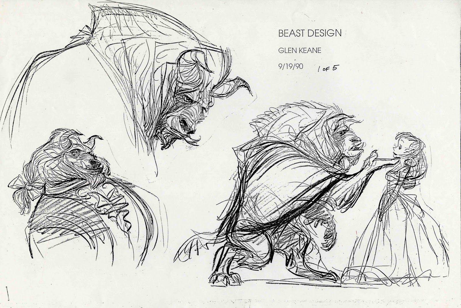 Beauty and the Beast - Beast design by Glen Keane