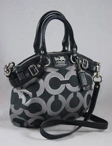 Coach Madison Op Art Mini Sophia Crossbody 18604 129 99 Silver Handbags
