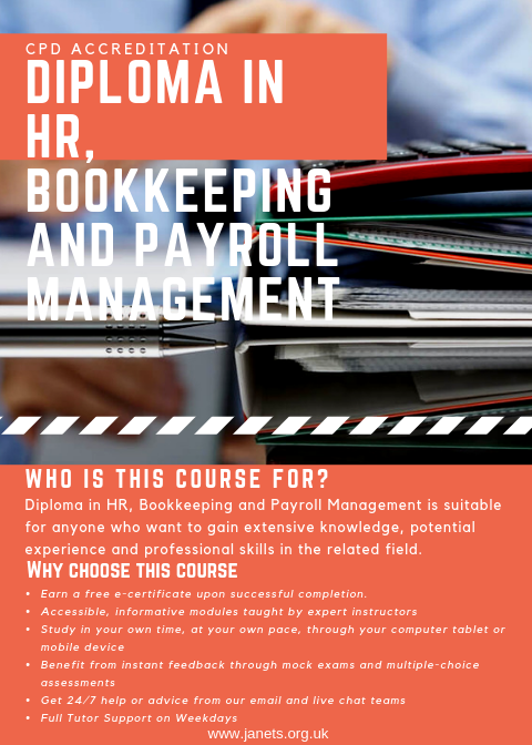 a trained HR, bookkeeping or payroll management