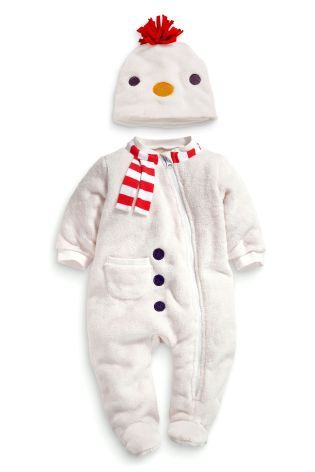 5667ba59e Buy Snowman Fleece Sleepsuit And Hat (0-18mths) online today at Next ...