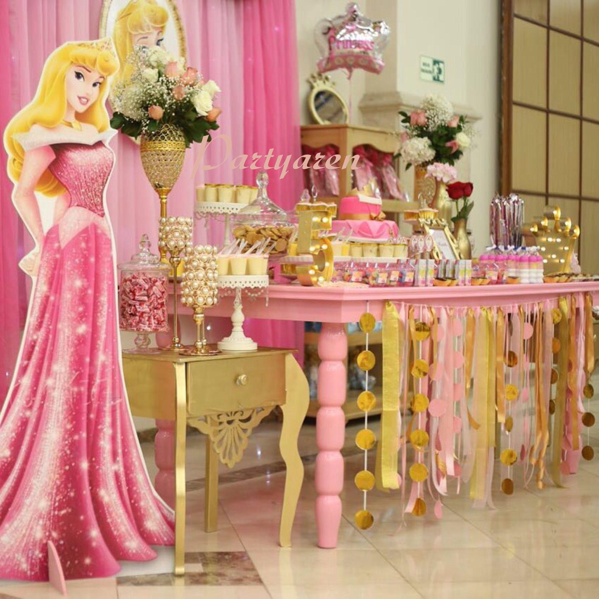 Princesa aurora fiesta princesa princess party fiestas - Ideas para fiestas ...