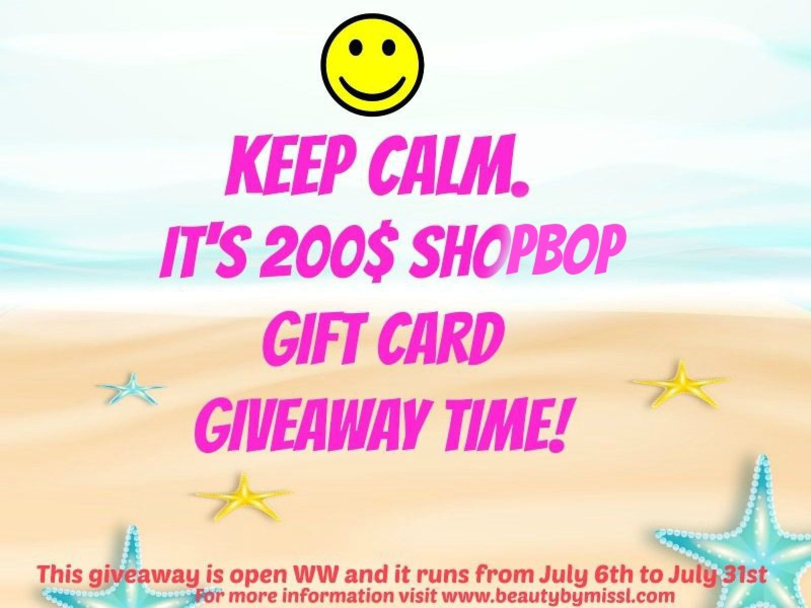 Keep Calm. It's 200$ Shopbop gift card giveaway time! via @beautybymissl