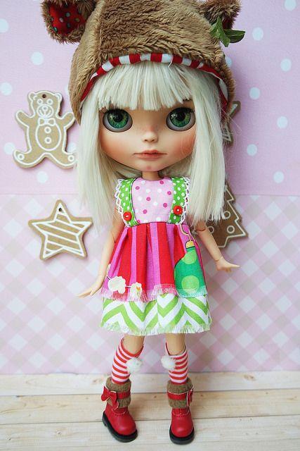 Blythe Christmas dress in my Esty 🎄☃❤️ | Blythe by Cihui | Flickr