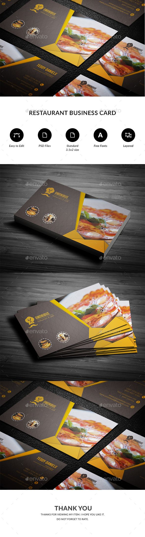 restaurant business card business cards card templates and business