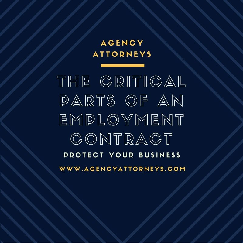 The Critical Parts Of An Employment Contract  What You Need To