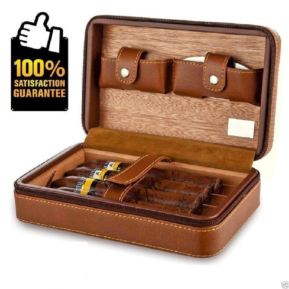 Humidors For Cigars Portable Travel Cigar Humidor Small Suitable Case For 4 Pc Humidors Cigars Cigar Humidor