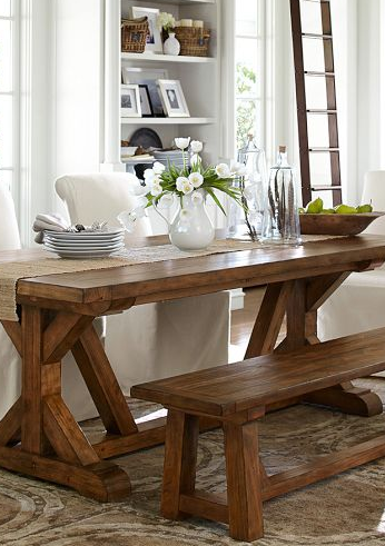 Diy Pottery Barn Inspired Table  Rustic Chic Bench And Room Awesome Dining Room Sets Pottery Barn Decorating Inspiration