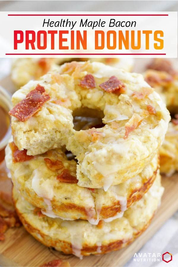 Photo of Macro Friendly Maple Bacon Protein Donuts