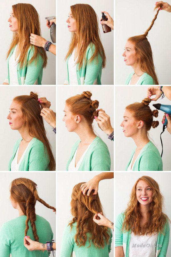Как сделать прическа волнами фото