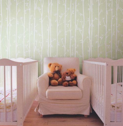 Best Twiggy White On Mint Green Kids Wallpaper Designyourwall 640 x 480