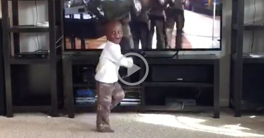 Stop what you're doing and watch this tiny tot bust a move to '80s boy band New Edition!