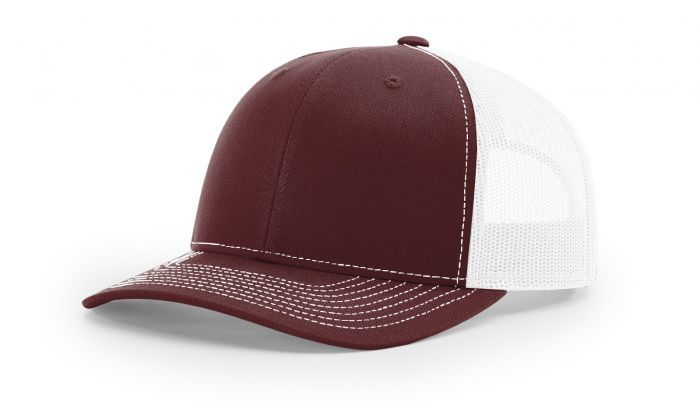 02d04fac444d7 Maroon White - 112 Trucker Mesh Snapback Adjustable Hat by Richardson Caps