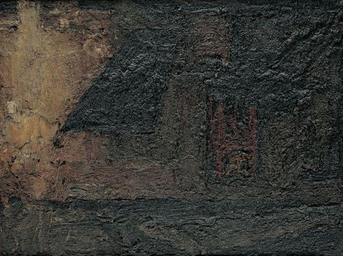 Frank Auerbach - Building Site, Earls Court Road, Winter (1953)