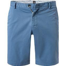 Photo of Boss pants men, stretch cotton, blue Hugo Boss