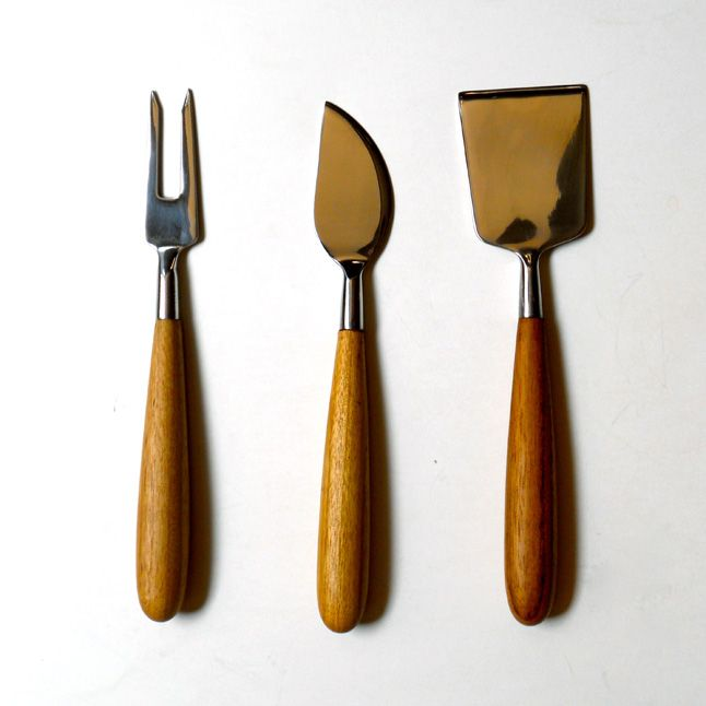 Cheese utensils from Global Table (globaltable.com) - these have the look of gardening tools. Love the classic lines.