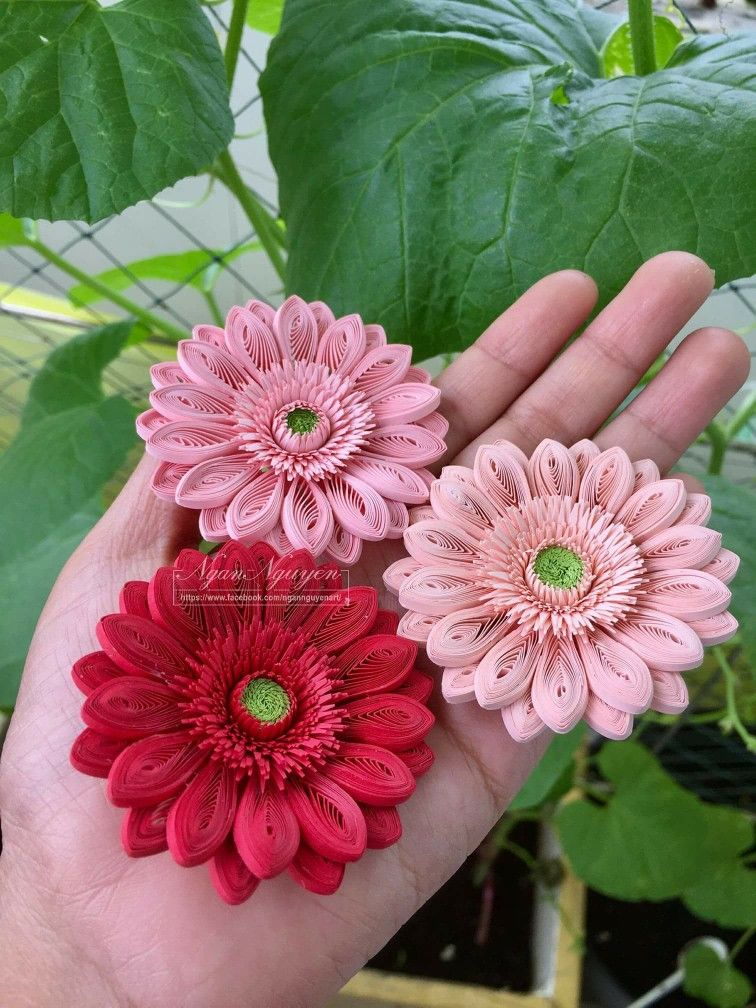 Quilled Gerbra Inspiration Photo Only Paper Quilling Jewelry Quilling Jewelry Quilling Flowers