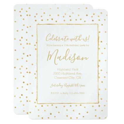 Glitzy gold confetti birthday card gold confetti and confetti confetti negle Image collections
