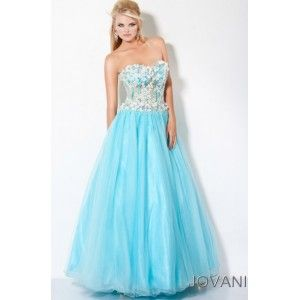 Gorgeous teal see-through corset prom dress with 3D flowers on the ...