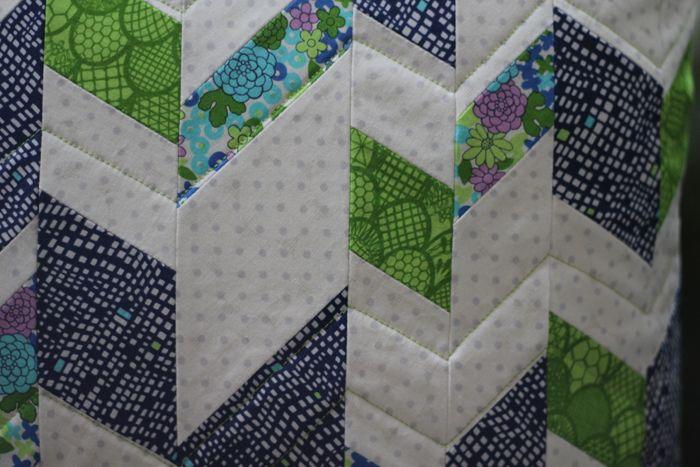 patchwork pillow featuring irome fabric : imagine gnats for kokka