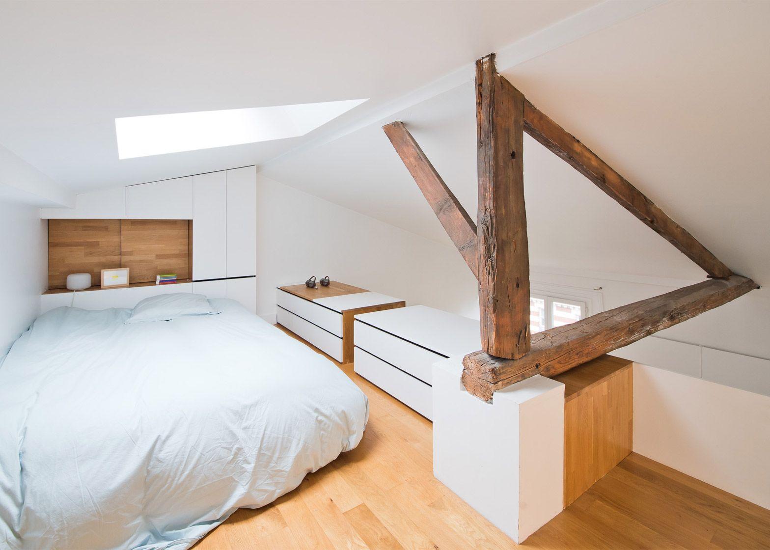 Soppalco Camera Da Letto.Sabo Project Transforms Paris Interior With Space Saving Stairs