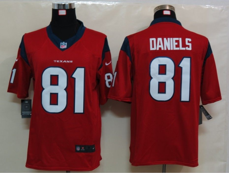 nfl jerseys wholesale Nike Texans Owen Daniels Red Alternate With Patch  Men's Stitched NFL Limited Jersey
