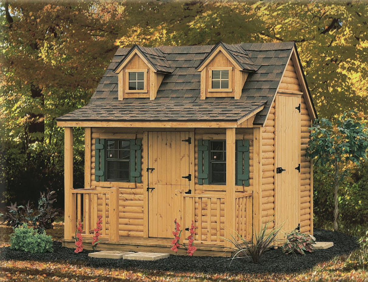 Little Log Cottage Playhouse | Play houses, North country ...