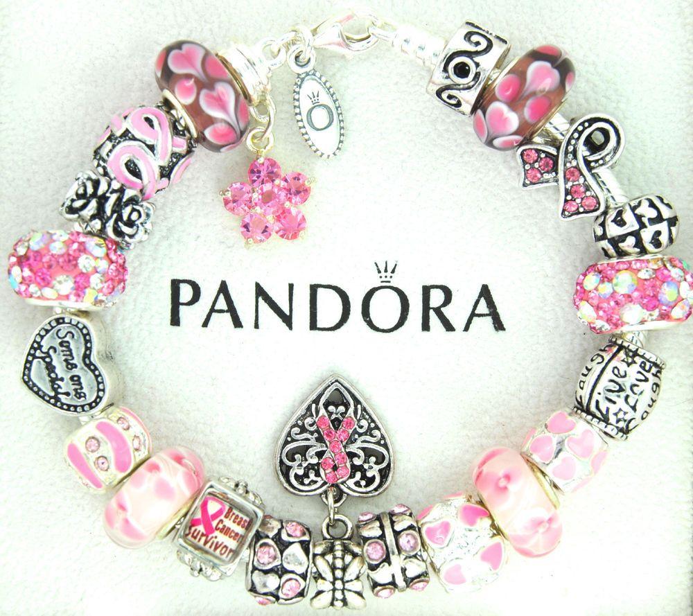 pandora charms+cancer survivor