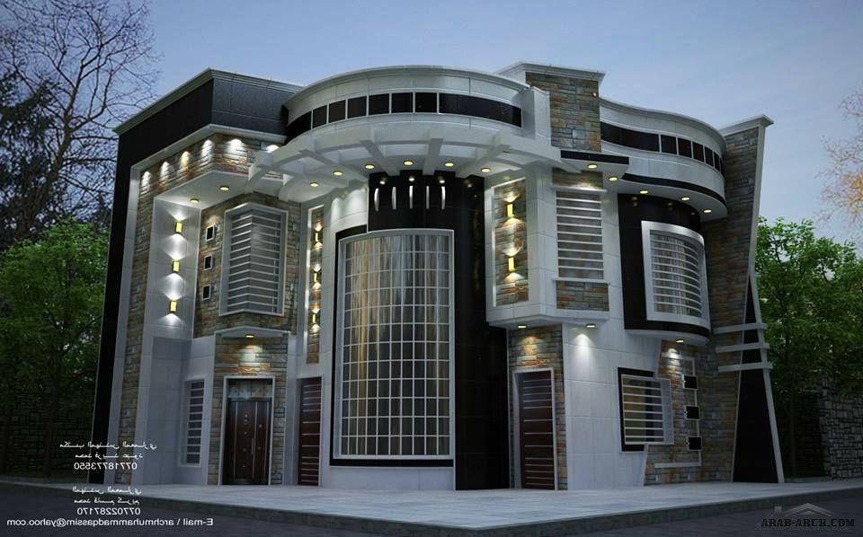 واجهات بيوت العراق مكتب المهندس المعماري محمد فريد عبود Unique House Design House Design Cool House Designs